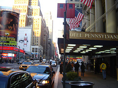 Entrance Of The Hotel Pennsylvania With A View Of 7th Ave