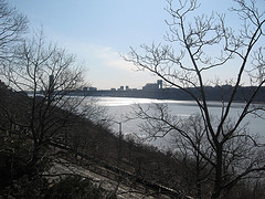 A View From Above Of The Hudson River