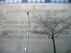 One Of Many Famous Emerson Quotes Inscribed On A Gray Wall Of Hunter College