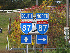 The Junction Between The North Interstate 87 And The South