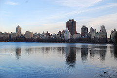 A View Of The City From Across The Jacqueline Kennedy Onassis River.