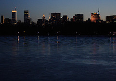 Southwest View Of Jacqueline Kennedy Onassis Reservoir At Night