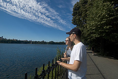 Looking Out Over The Jacqueline Kennedy Onassis Reservoir In Central Park