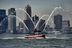 Water Cannon Shot Off The John J. Harvey Fireboat