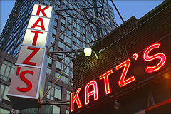 I Guess They Need Two Signs To Make Sure You Know You Are At Katz's Delicatessen.