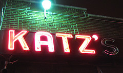 Looks Like Katz's Delicatessen Needs To Fix A Light.