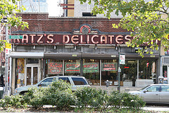 Katz's Delicatessen Is Known For Serving New York's Best Pastrami Sandwiches And Hot Dogs.