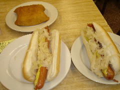 Great Hot Dogs Are To Be Photographed At The Katz's Delicatessen