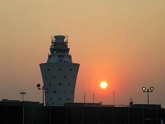 View Of Control Tower At New York City's LaGuardia Airport.