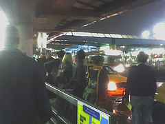 The Long Line For Taxis At La Guardia Airport In Long Island