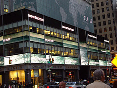 The Offices Of Lehman Brothers, Which Went Bankrupt In 2008