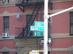 Check Out Lenox Avenue. The Only Thing In New York That Looks Like Everywhere Else Is The Street Signs.