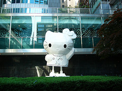 Gigantic Hello Kitty At The Lever House In New York