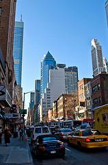 Traffic Fills Lexington Avenue, On Manhattan