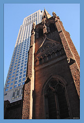 The Spire Of A Cathedral On Lexington Avenue.