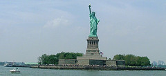 Great View Of Lady Liberty On Liberty Island