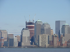 Photo Taken From Liberty Island Of The Freedom Tower Site Across The Bay