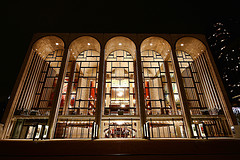 Night-time View Of The Metropolitan Opera House At The Lincoln Center For The Performing Arts.