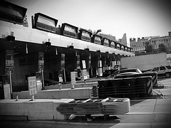 A Classic Look At Lincoln Tunnel In Black And White.