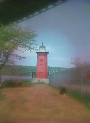The Little Red Lighthouse (Jeffry's Hook Lighthouse) On The Hudson River