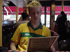 An Eager Customer About To Order A Pizza At The Usa's Oldest Pizza Restaurant, Lombardi's.
