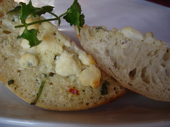 Yummy Garlic Bread At Lombardi's In Little Italy Manhattan