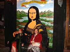 Two Women Seated At Lombardi's Pizzeria In Little Italy, Manhattan