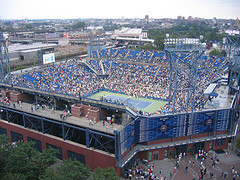 Louis Armstrong Stadium In Flushing, A Us Open Stadium
