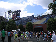 Louis Armstrong Stadium With Us Open Banner