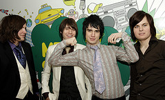 A Picture Of Panic At The Disco Taken Inside Mtv Studios In Time Square