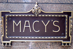 A Name Known 'round The World. Macy's Plaque Outside Their Flagship Store In Herald Square, NYC.