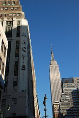 The Original Macy's Sign In New York.