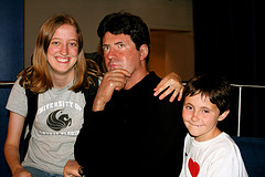 Kids Having Fun With Simon Cowell At Madame Tussauds