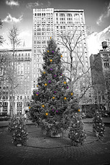 A Nicely Photoshopped Christmas Photo Taken At Madison Square