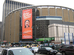 Madison Square Garden, Constructed At A Cost Of $123 Million Use, On A Cloudy Day.