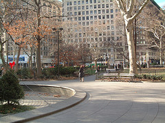 Madison Square Park In Fall