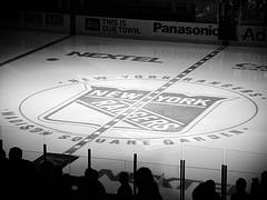 Image Of The New York Rangers Hockey Rink, Taken From Inside Madison Square Garden.