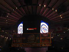 The Iconic Scoreboard Inside The Iconic Madison Square Garden