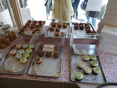Cupcakes On Display At Magnolia Bakery.