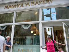 People Move In And Out To By Their Wished Eatables In Magnolia Bakery
