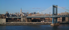 Since 1909 Manhattan Bridge Has Spanned The East River, Connecting Manhattan And Brooklyn.