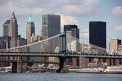 Manhattan Bridge Connects Brooklyn To Manhattan, Built 1909, Steel Cable Construction