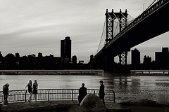 The Manhattan Bridge, Spanning From Brooklyn To Lower Manhattan Over The East River
