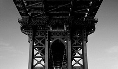 Looking Up At The Amazement Of The Manhattan Bridge.