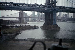 A Creepy Surreal Shot Of The Manhattan Bridge During A Cloudy Day