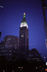 A Stunning View At Manhattan Life Insurance Building That Night.