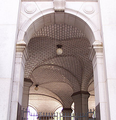 Arches At The Base Of Manhattan Municipal Building