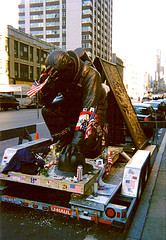 A Statue Of The Kneeling Fireman Which Strangely Ended Up In New York 2 Days Before 9/11