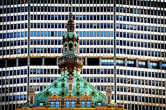 A Park Avenue Contrast Of New And Old; The MetLife Building Portraying The New