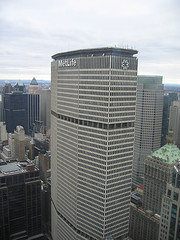 A High Shot Of The MetLife Building From The Chrysler Building In Manhattan